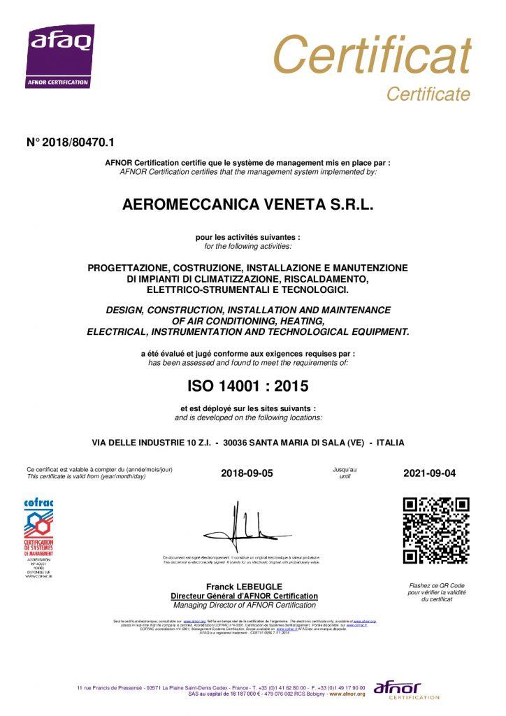 Certificato 14001