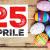 Chiusura Festività – Pasqua e 25 Aprile –