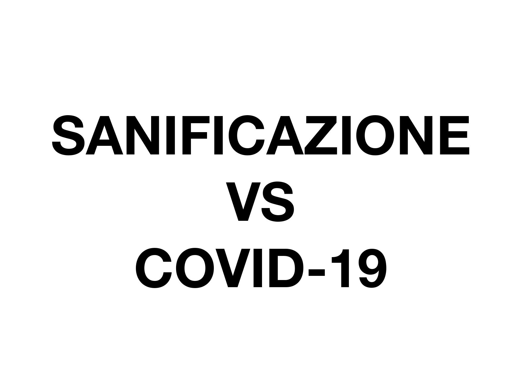 Sanificazione VS Covid-19